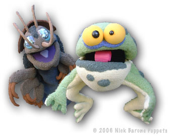 Puppets: the biggest little bug and the hungry frog